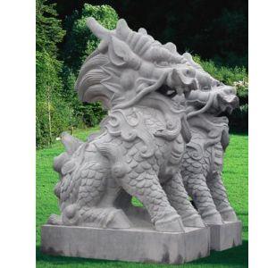 供应广州仿砂岩雕塑麒麟
