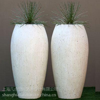 凡点欧式组合花盆 玻璃钢景观花盆 仿瓷花器 商场创意花缸加工定做