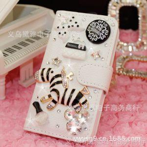 供应新款苹果4/5代小斑马皮套iphone4/4s/5钻壳皮套手机保护套外壳