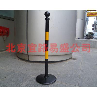 供应厂家直销90厘米可黑色橡胶反光警示柱路锥立柱隔离栏柱交通设施HY00801A