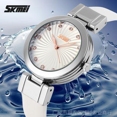 时刻美正品时尚休闲女人味十足的真皮防水时刻美正品手表9086