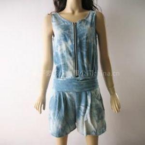 时尚ZARA欧美大牌牛仔裤扎染连衣裙