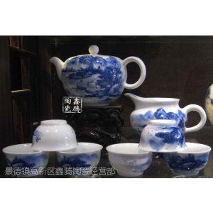 供应青花功夫茶具,礼品青花套装茶具