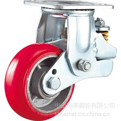 奔驰公司专业研发产6寸载重400公斤红色韩式万向减震脚轮