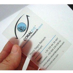 供应PVC透明名片-半透明PVC名片印刷