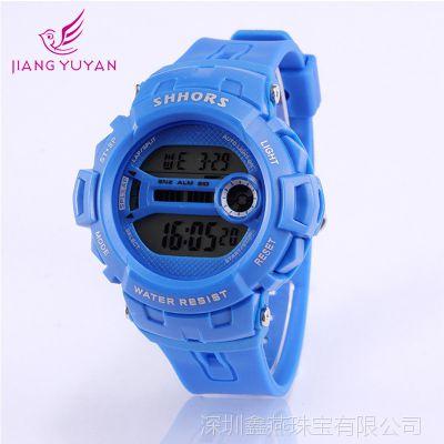 速卖通货源品牌多功能防水运动led学生男生女生电子硅胶手表批发