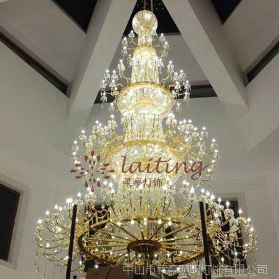 现代豪华别墅大吊灯复式楼 客厅 楼梯灯长水晶吊灯酒店工程大厅灯