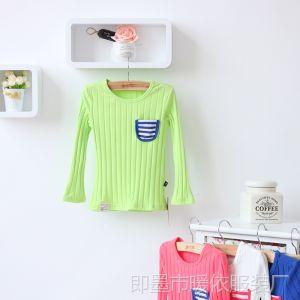 供应2013外贸童装批发 秋季新款儿童打底衫 韩版童装男女童T恤 LM510
