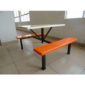 供应惠州玻璃钢餐桌 四人位饭堂餐桌 免费送货安装
