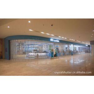 机场商铺专用推拉式铝合金水晶折叠门