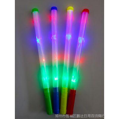 大号透明闪光棒   助威棒 LED电子夜光棒   七彩荧光棒演唱会用品