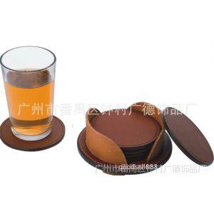 供应真皮皮革杯垫,广告套装皮杯垫,优质环保皮杯垫定做
