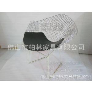 供应钻石椅,铁丝椅,铁线餐椅(Wire Diamond Chair),喷塑户外椅