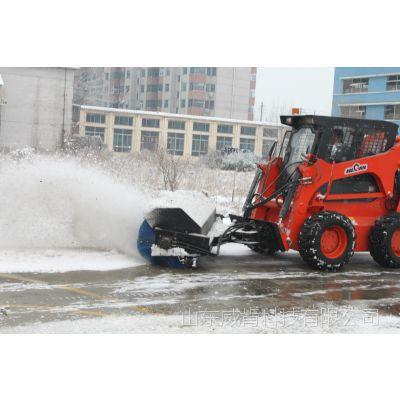 冬季除雪器斜角清扫器 威肯滑移厂家直销