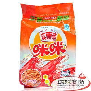中国 咪咪虾味条160g*30包/箱 进口食品批发 进口零食小吃