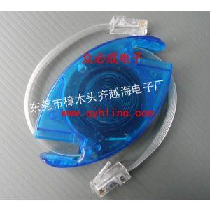 供应伸缩网络RJ45线,2.5米白色透明线