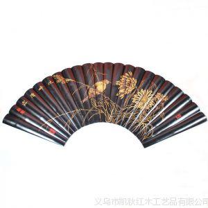 供应凯秋红木 壁挂饰家装 竹雕 扇形 竹简 字画 池畔清露 ZJ2008