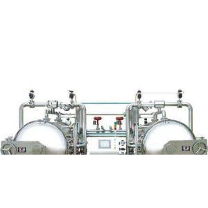 供应全自动水浴式双锅并联杀菌锅