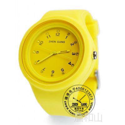 批发韩国时尚新款女士 个性休闲时装表 学生硅胶手表女款手表批发