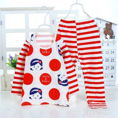 2014新款玛诺米奇 215-2卡通婴儿纯棉内衣套 中小童纯棉休闲套装