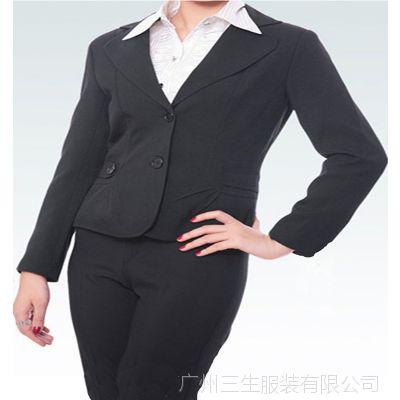 广州厂家专业定做女式西服职业套装定做女士西装西装量身定做厂家