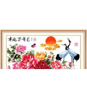 供应【印布系列】幸福万年长(二)十字绣,适合挂客厅