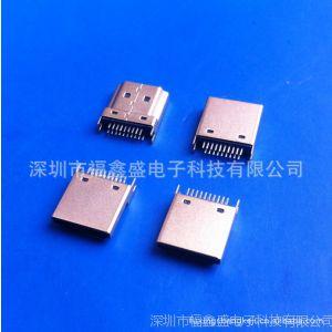 供应HDMI A母座夹板式镀金转换器IO连接器插座