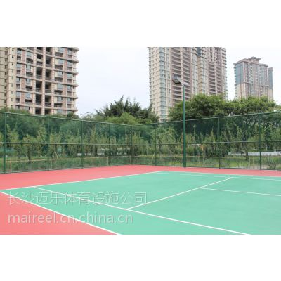 供应湖南长沙株洲衡阳郴州硅pu球场硅pu网球场塑胶球场