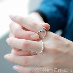 供应日韩时尚唯美精致简约OL气质海星女款开口戒指戒环