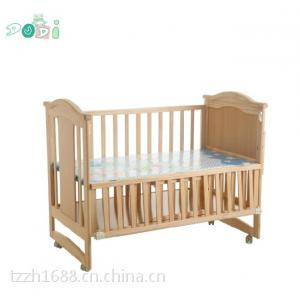 供应嘟迪DH6202带独立摇篮环保无漆童床全实木制婴儿床宝宝摇床批发