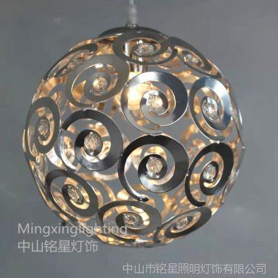 供应铭星餐厅吊灯简约现代卧室灯铝材漩涡回旋创意灯饰单头阳台过道灯