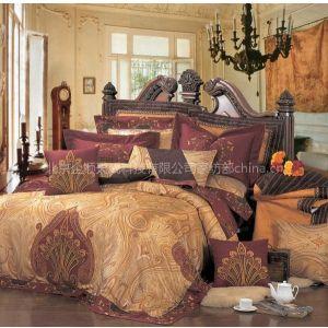 豪华高档床品套件雅蓝鸟家纺全真丝贡缎提花十二件套
