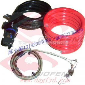 供应自行车钢缆锁 弹簧 锁具钢丝绳