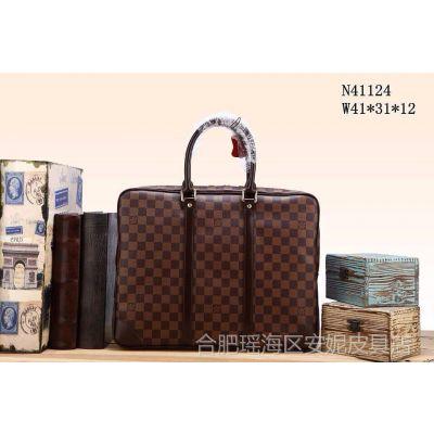 供应L家男士商务包手提包原版皮高品质欧美风范男包一件代发41124