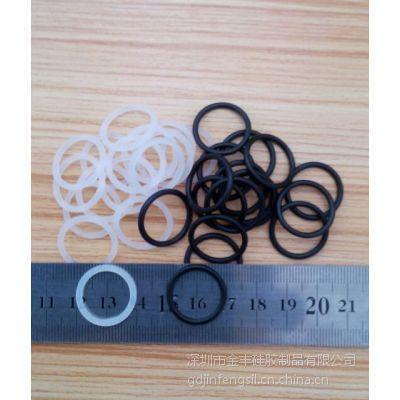 YF0527半透明透硅胶O型圈黑色耐磨损橡胶O型圈