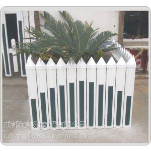 供应湖北草坪护栏PVC栏杆 优美雅PVC围栏