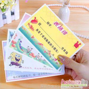 供应韩国文具 教师用品 可爱生奖励 小奖状 幼儿园奖状 表扬信 O25
