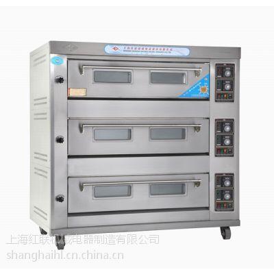 供应三层九盘燃气炉\\面包房配套设备、食品烘焙设备 宏联牌