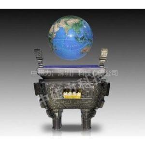 供应创意树脂工艺品 直径20cm大号磁悬浮诚信鼎地球仪