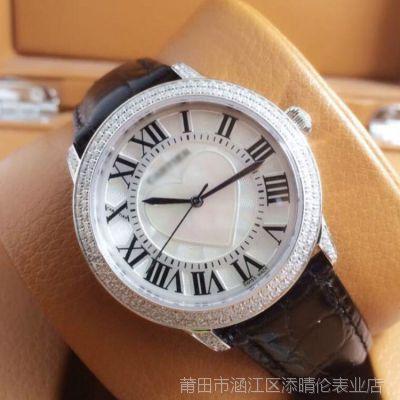 批发供应新款上市进口石英腕表 时尚休闲酒店镶钻系列女士手表