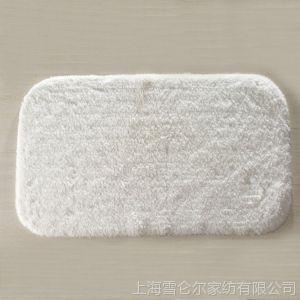 供应康尔馨 地垫 门垫 全棉 喜来登风格 长毛地垫 纯棉绒 面浴室防滑垫