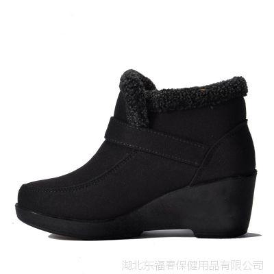 一件代销老北京棉鞋女款 坡跟加厚加密短绒 中年妈妈保暖短靴