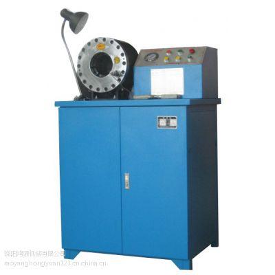 河北衡水供应液压管扣压机, 鸿源胶管锁管机多钱一台