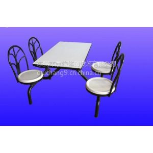 供应专业食堂餐桌椅厂家供应玻璃钢餐桌 员工餐桌椅 实用 实惠 靠背椅餐桌