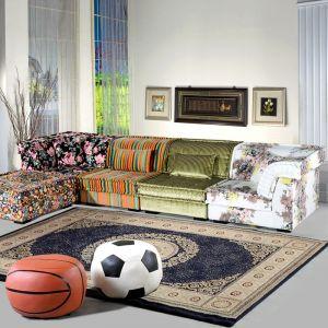 供应途疆 布艺沙发 现代简约转角沙发 组合休闲紫色沙发 TJ211