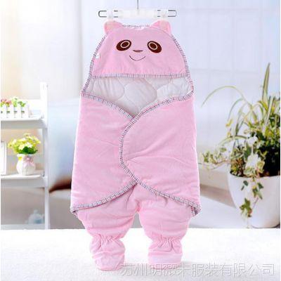 秋冬新生儿包被 宝宝连脚包被抱毯 婴幼儿抱毯睡袋两用1403