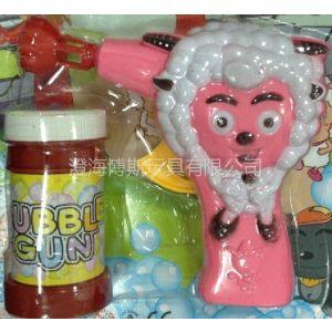 供应喜羊羊泡泡枪夏天户外喜洋洋流行玩具(OPP袋包装照片背景知识凸显产品而已