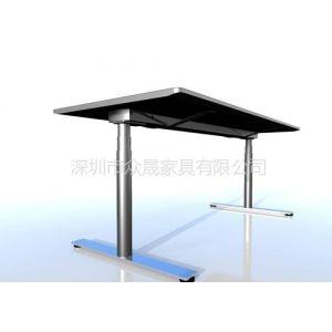 供应深圳众晟家具UR-MD003板式高端升降办公电脑桌