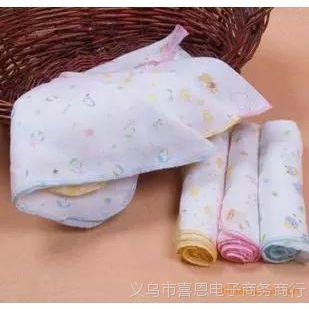 西松屋 全棉纱布印花手帕 喂奶巾 三角巾 口水巾 洗脸巾31cm*31cm