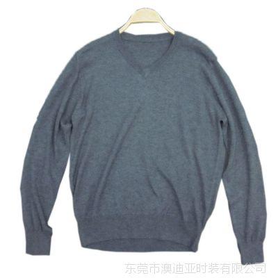 东莞大朗高档品牌男装加工小批量男士细针14G羊毛衫内外销订单来料样定做